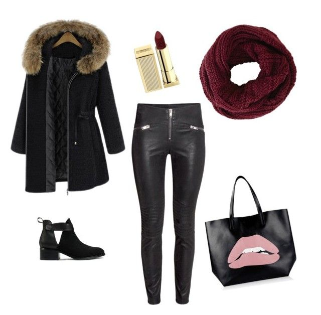 """""""#ColdDayTrendy #Dramatic #CreativeTrend!"""" by kareenleon on Polyvore featuring Nly Shoes, RED Valentino, Lipstick Queen and BCBGMAXAZRIA"""