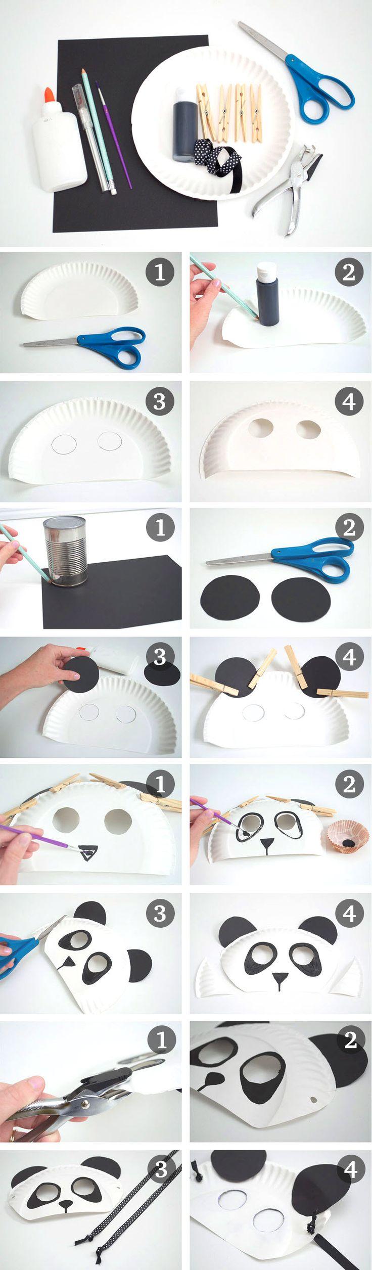 fabriquer un masque de panda
