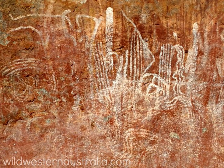 Walga Rock paintings, 48km west of Cue in the Murchison Region of Western Australia. If you click on the image you'll find a destination guide for the town of Cue.