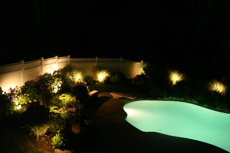 Incroyable Landscape Lighting Around Pool | Outdoor Lighting Ideas | Pinterest |  Landscaping, Backyard And Pool Houses