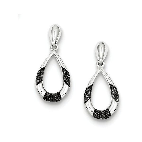Lumax sterling silver black and white diamond earrings ($319) ❤ liked on Polyvore featuring jewelry, earrings, black and white jewelry, dangle diamond earrings, black and white diamond jewelry, earring jewelry and dangle earrings
