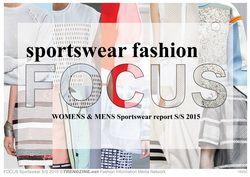 FOCUS Sportswear Fashion S/S 2015 womenswear & menswear trend analysis