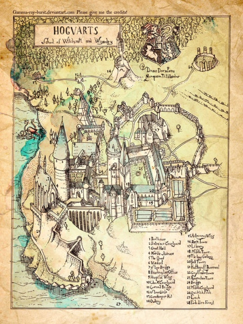 maps of fictional places <3
