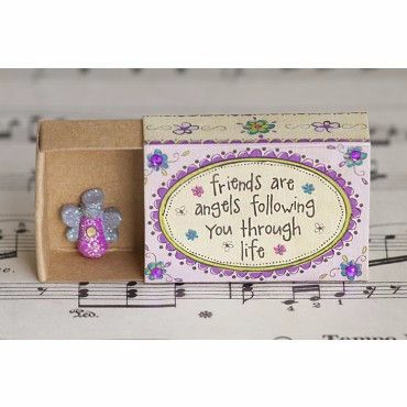 Friends are Angels Matchbox Card