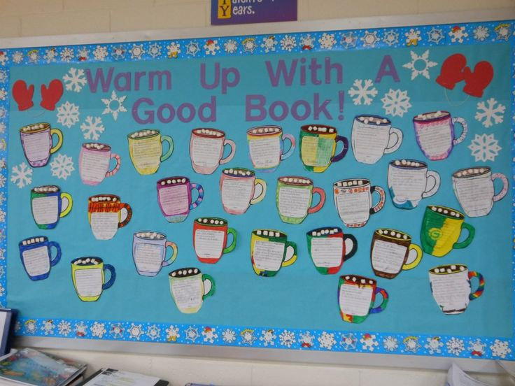 Classroom Warm Up Ideas : Quot warm up with a good book bulletin board for the winter