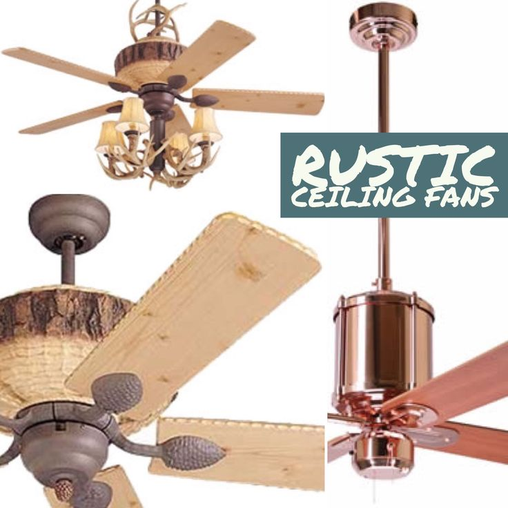 Rustic Ceiling Fans: These Rustic style ceiling coordinate with your cabin style interior or add an instant rustic feeling to any home. Ceiling fans from Monte Carlo, Craftmade, Savoy House, Industry in Galvanized, Copper or other finishes.