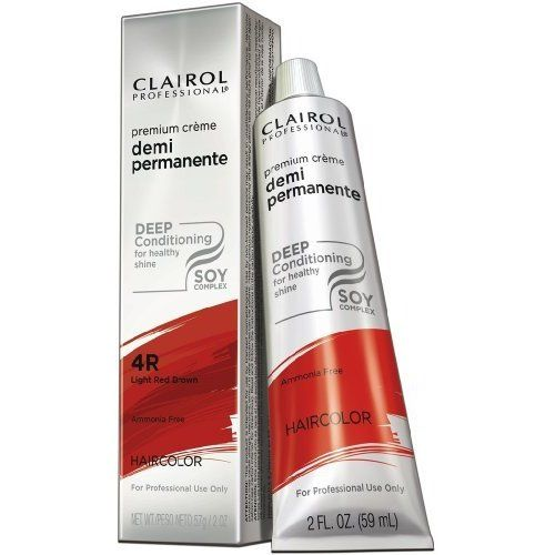 Clairol Professional Creme Demi Permanente Hair Color 4R-Light Red Brown (Pack of 1) >>> Check out the image by visiting the link. #hairandmakeup