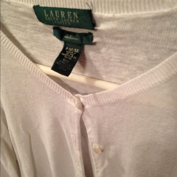 Basic white button up cardigan White, somewhat looser of a fit, simple but adorable button up Ralph Lauren Sweaters Cardigans