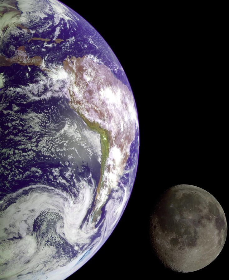 Mother Earth and Her Moon, Photograph NASA Hubble Telescope