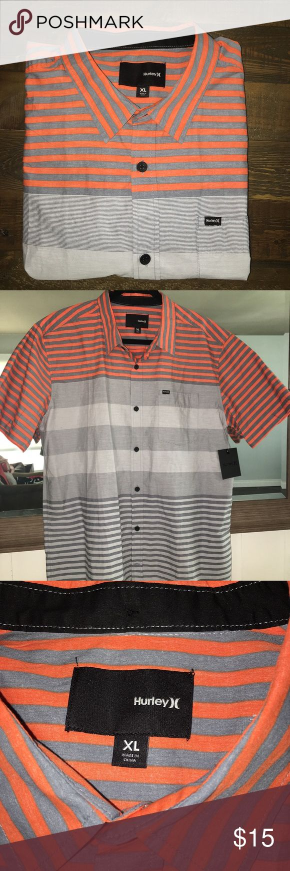 Men's Hurley shirt Never worn, Men's XL casual button shirt with collar Hurley Shirts Casual Button Down Shirts