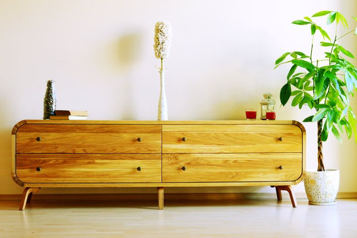 Sideboard Dresser Commode Media Console Luxury Furniture TV Stand Low Cabinet Credenza Midcentury Oak Solid Board Modern Handmade cabinet by OakStudioDesigns on Etsy https://www.etsy.com/listing/475596749/sideboard-dresser-commode-media-console