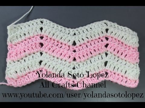 #Crochet-patron para hacer mantitas, covijas, bufandas, etc. - YouTube