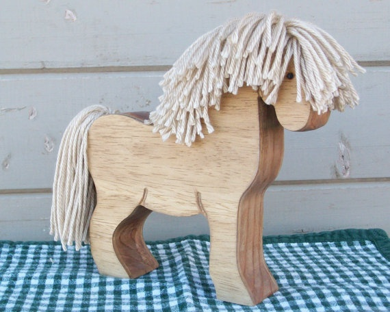 Horse Piggy Bank Buttercup by RusticHorseShoe on Etsy, $14.00