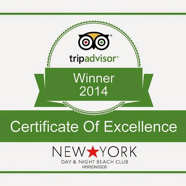 We Are A #TripAdvisor Certificate Of Excellence Winner For 2014! Thanks To All Our Guests! Been There Too? Review Us! #NYBCHersonissos #Hersonissos #Crete #Greece (at New York Beach Club Hersonissos Crete)