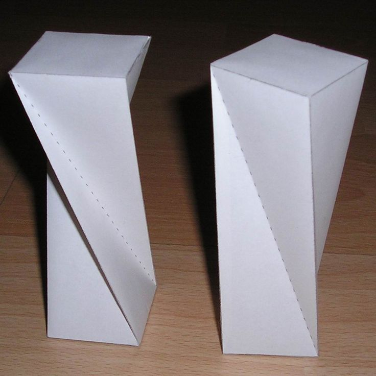 Paper model twisted rectangular prism