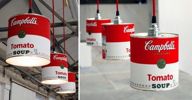 lamparas con objetos reciclados -