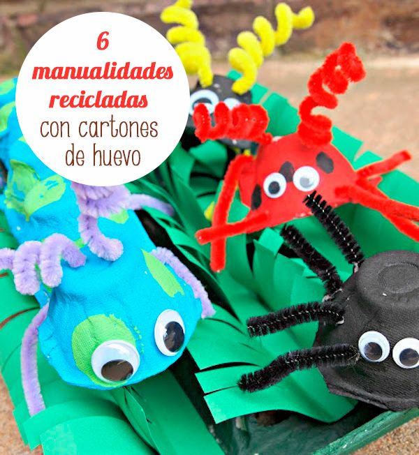 82 best images about manualidades con cart n on pinterest - Manualidades infantiles recicladas ...