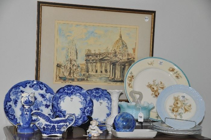 Found on EstateSales.NET: More flow blue to choose from and other vintage pieces!