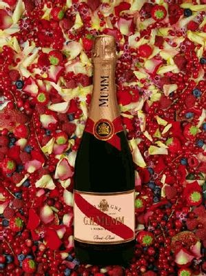 GH Mumm Champagne for Valentines Day!