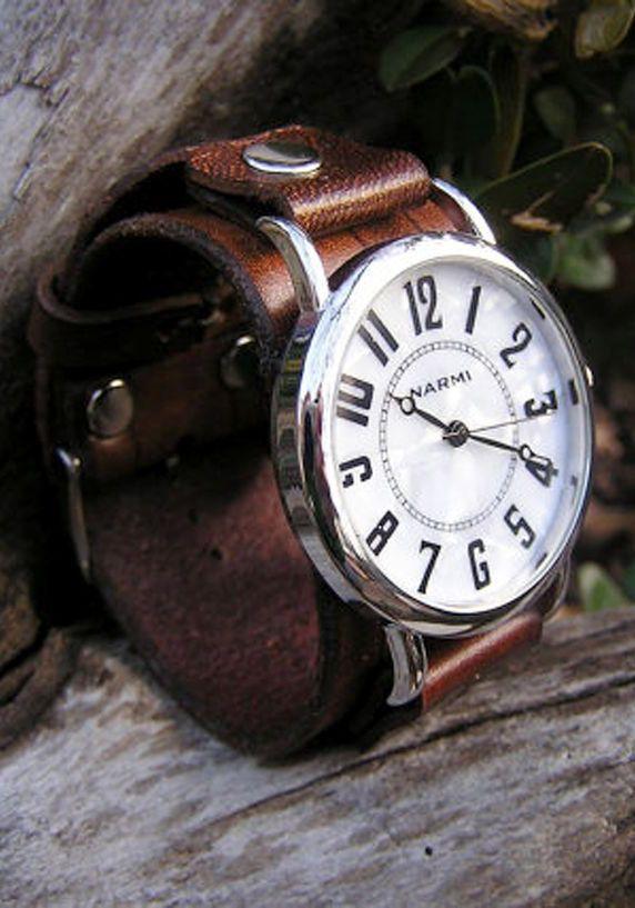 Mini Big & Bold Brown Leather Wrist Watch