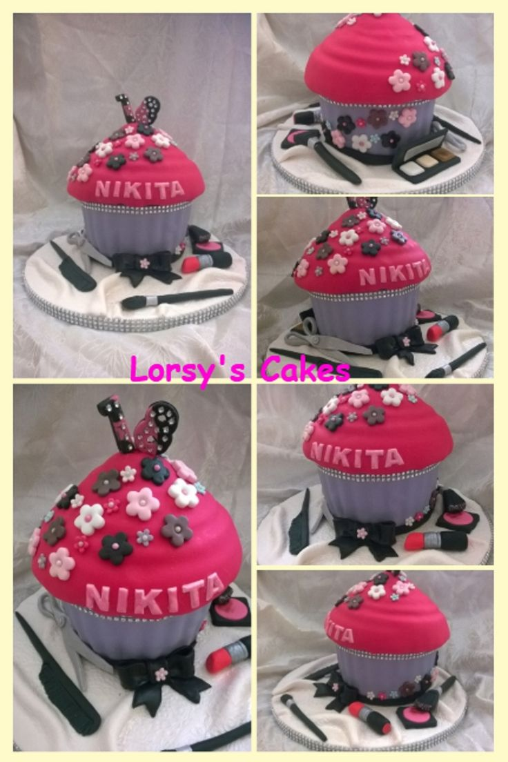 18th Giant Cupcake birthday Cake