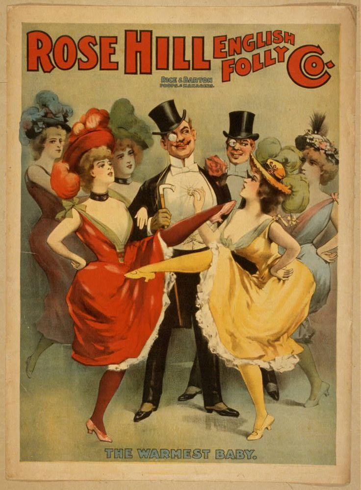 Carteles de Espectáculos burlesco 1890 Fuente: Artes Escénicas Pósteres Colección de la Biblioteca del Congreso