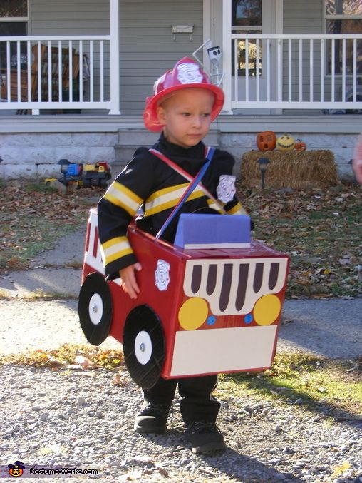 Fire Engine Costume - 2013 Halloween Costume Contest via @costumeworks