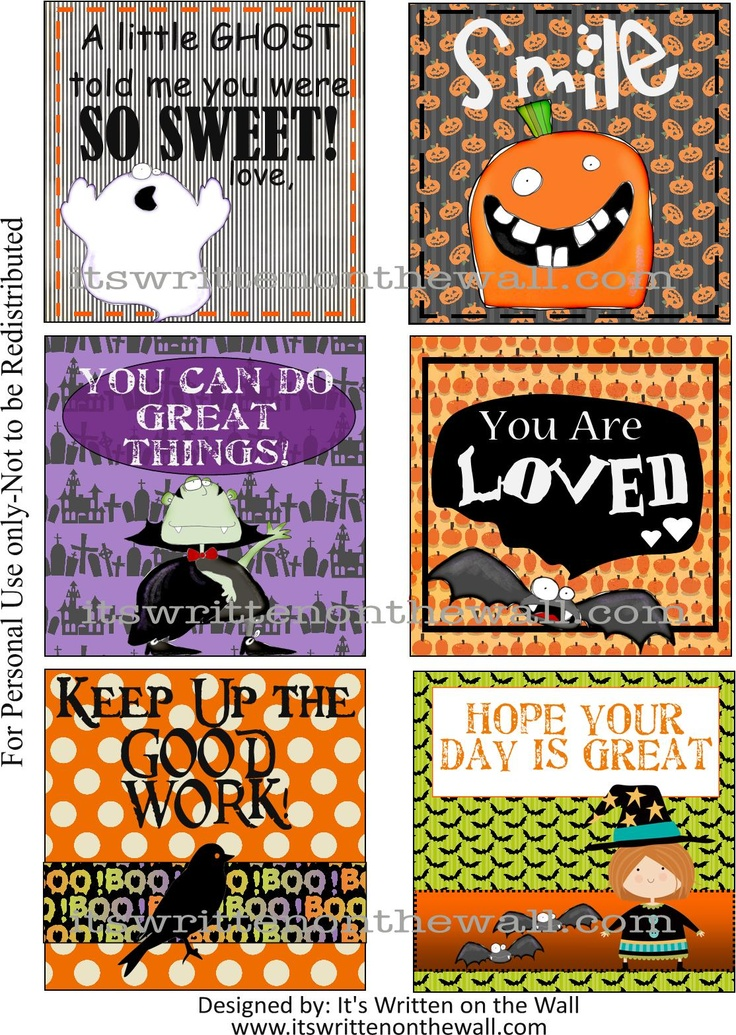 (Freebie) Did you get a set of our Halloween Lunchbox Notes yet? The Kids love them!