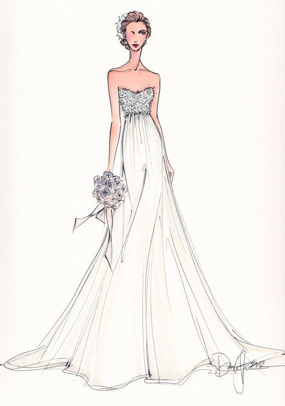 17 best images about fasion illustration wedding dress on