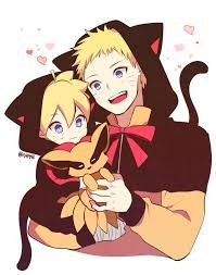 Father and son. They look soo cute!  ^o^