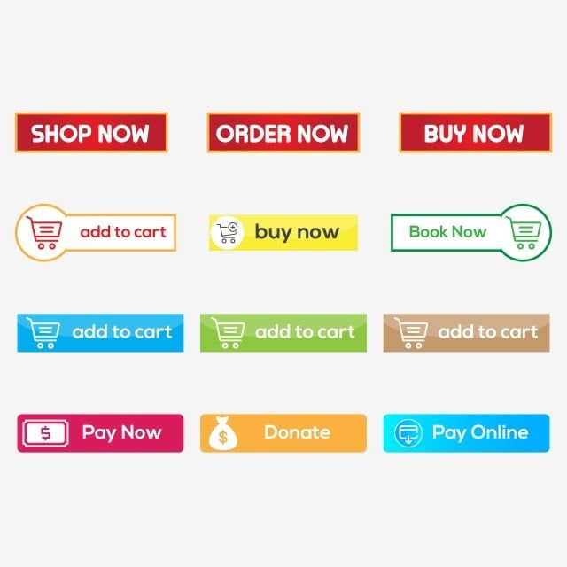 Set Of Various Wed Button Vector Png Transparent Design Flat Icon Colorful Web Button Vector Button Vector Png Shop Now Png And Vector With Transparent Backg Flat Icon Transparent Design Freelance