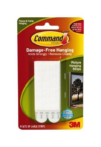Command Large Picture Hanging Strips, 17206 (1 Pack of 4 Sets) by Command, http://www.amazon.co.uk/dp/B00404YKZI/ref=cm_sw_r_pi_dp_GlCCrb056YYVH