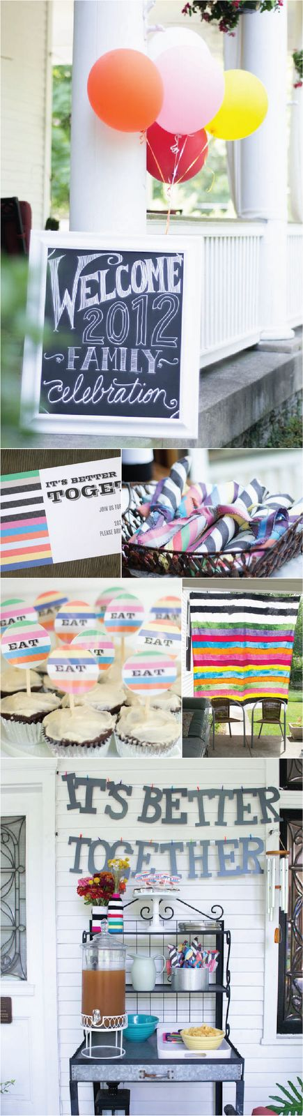 Family Reunion #Black and #white with colorful #stripes @Margot D.S. D.S. Madison
