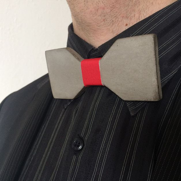 Different concrete rare bowtie Geometric red is unique product and handmade by Aludana. Concrete butterfly can be a perfect gift for women and men, it is unisex, is for those who love the industry, minimalistic, original and innovative design. This superb pretty bow tie is made of thick concrete. Bowtie have adjustable elastic black belt (rubber). A unique feature fine luxury - the bowtie by Aludana. Unique Bow Tie is a wonderful gift for you, your friends, your loved ones.