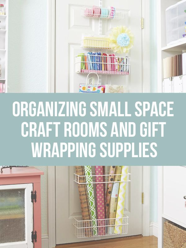 Need some ideas for organizing and storing gift wrapping supplies? Come find great tips and inspiration for small spaces!