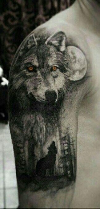 86 besten wolf tattoos bilder auf pinterest wolf tattoos. Black Bedroom Furniture Sets. Home Design Ideas