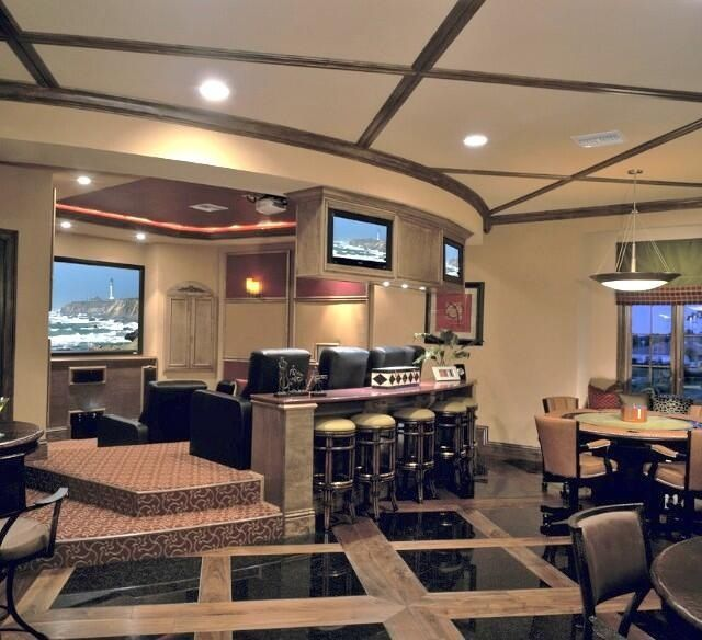 Luxury Man Cave Game Room Bar With Images: Look At This Epic Man Cave!!! Awesome Basement With A