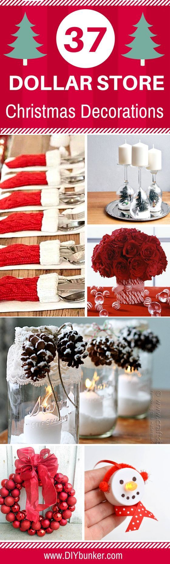 These 27 Dollar Store Christmas Decoration Ideas Are PERFECTION! I love how quick, easy and cheap these are to DIY.