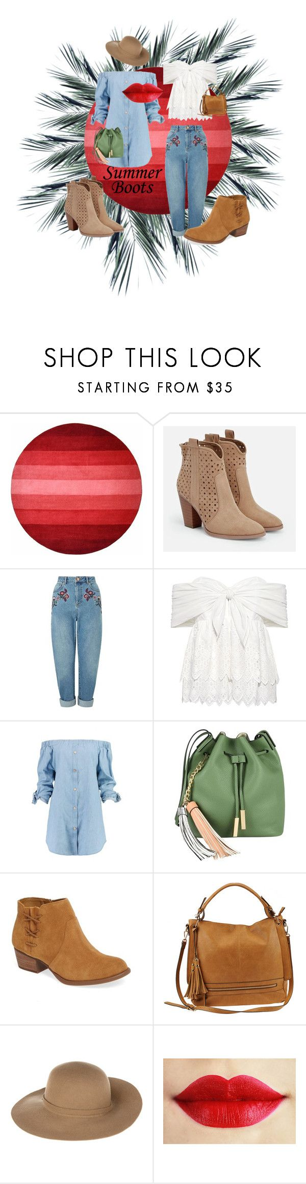 """""""summer boots .. casual summer style with breathable boots"""" by becksrose ❤ liked on Polyvore featuring JustFab, Miss Selfridge, Sea, New York, Boohoo, Nali, Jessica Simpson, Urban Expressions and Armani Jeans"""