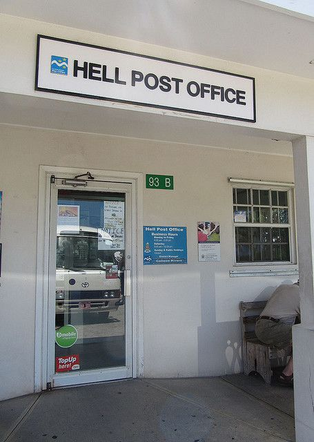 Hell post office on Grand Cayman Island.