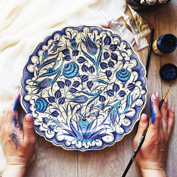 12 Handmade Turkish Decorative Ceramic Plate For Wall Large Decorative Hanging Plate Colorful Ceramic Wall Plate Turkish Plate Handmade Ceramic Decor Plates On Wall Colorful Ceramics Large decorative plates for the wall