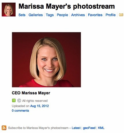 Hope for Flickr? Marissa Mayer Joins Photo-Sharing Site, Reportedly Doubles Team. By Anthony Ha, at TechCrunch.com