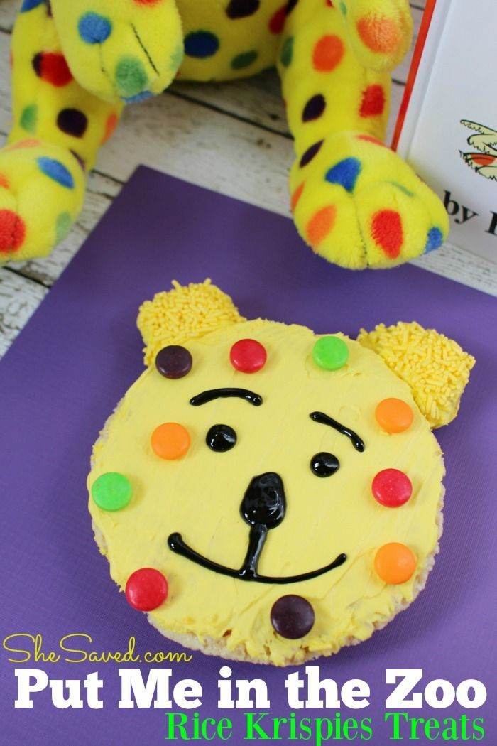 Looking for a fun treat idea to celebrate Dr. Seuss Day? These darling Put Me in the Zoo treats will be a hit! | She Saved