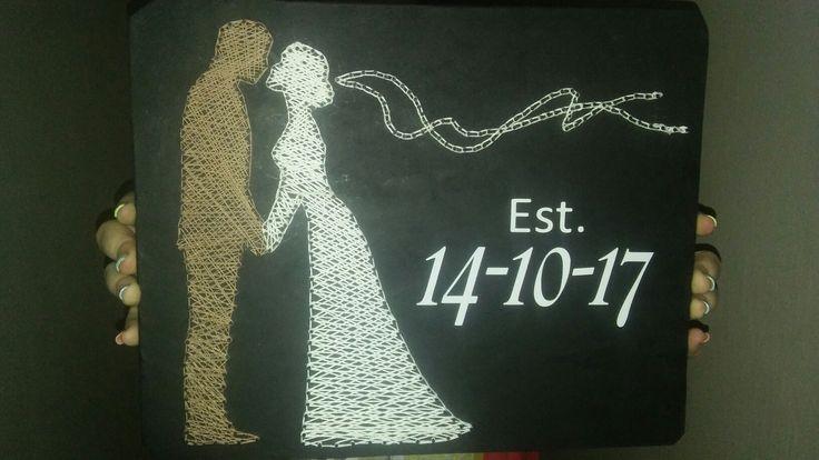 Bride and Groom String Art