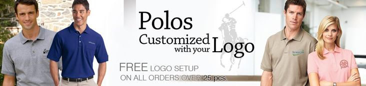 Personalized logo embroidery on ladies and men's custom polo shirts has been a mainstay of our printing and embroidery business since 1989. EZ Corporate Clothing carries a full line of youth and adult polos, from basic embroidered solid polo shirts and contrast polos, to short sleeve and long sleeve polo shirts, dri-fit polos, performance polos, and pocket polos. Order embroidered company polo shirts for your staff, your customers and as promotional giveaways at corporate events.