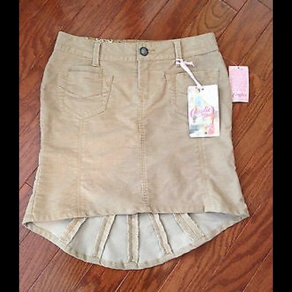 Candies Light Corduroy Khaki Skirt Cute light weight skirt with three front pockets and a fish tail hem at the back. Candie's Skirts