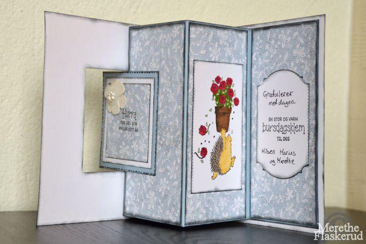 Merethe Flaskerud: Bursdags kort med Rosy