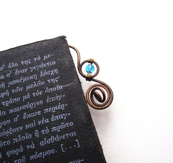 Antique Bronze Bookmarks by peripatum on Etsy