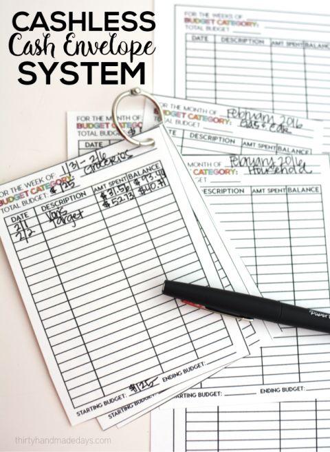 cashless cash envelope system