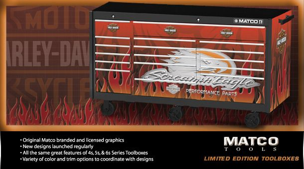 Matco tools Screamin Eagle Harley Davidson limited edition tool box